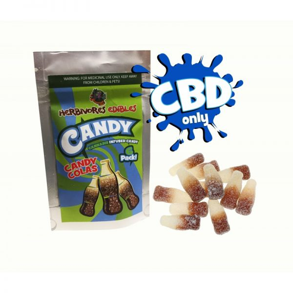 Cannabis Club BC - Buy Weed Online - CBD - Herbivores - Candy Colas 150mg - Packaging And Product View