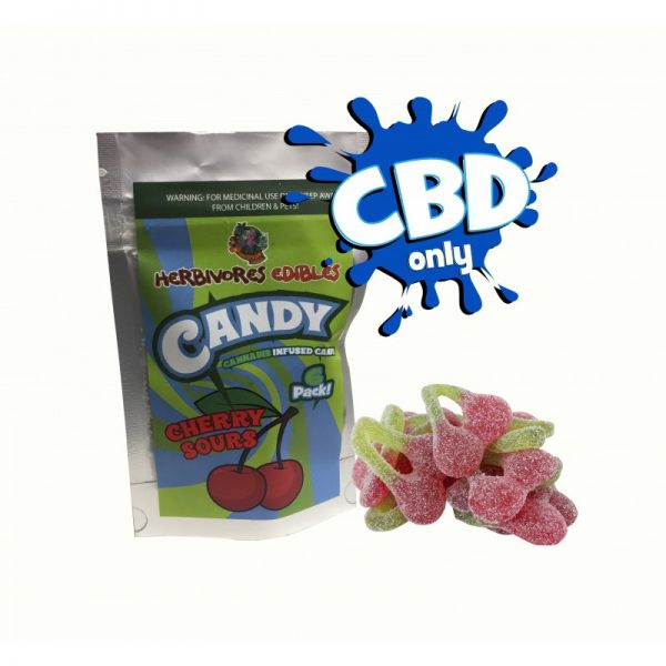 Cannabis Club BC - Buy Weed Online - CBD - Herbivores - Cherry Sours 150mg - Packaging And Product View
