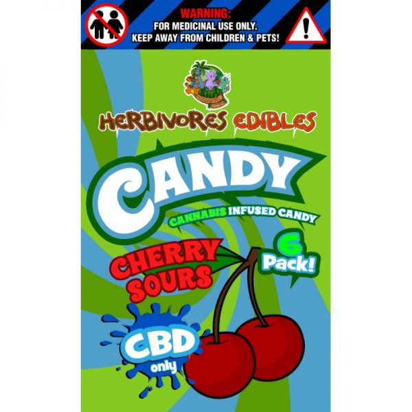 Cannabis Club BC - Buy Weed Online - CBD - Herbivores - Cherry Sours 150mg - Packaging Description