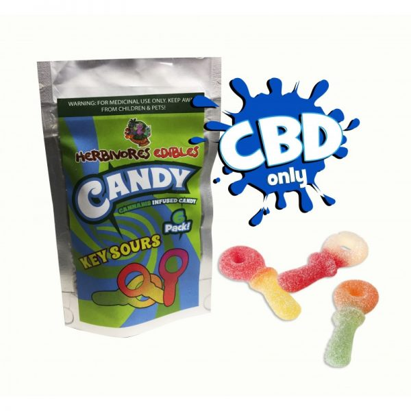 Cannabis Club BC - Buy Weed Online - CBD - Herbivores - Key Sours 150mg - Packaging And Product View