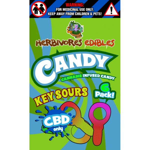 Cannabis Club BC - Buy Weed Online - CBD - Herbivores - Key Sours 150mg - Packaging Description