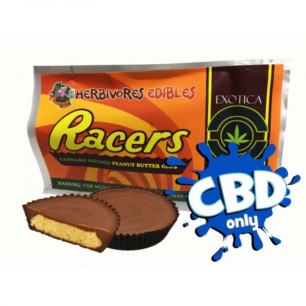 Cannabis Club BC - Buy Weed Online - CBD - Herbivores - Racer Cups 150mg - Packaging And Product View