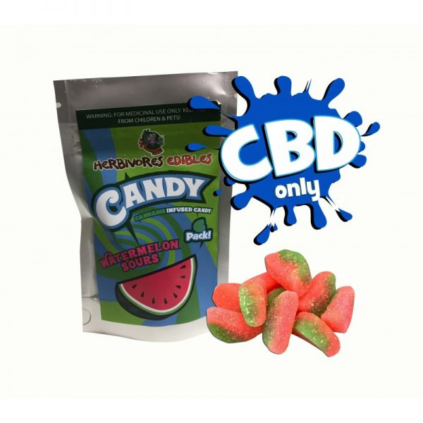 Cannabis Club BC - Buy Weed Online - CBD - Herbivores - Watermelon 150mg - Packaging And Product View