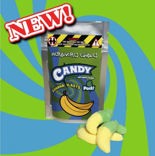 Cannabis Club BC - Buy Weed Online - Edibles - Candy - Herbivores - Banana Blasts 150mg THC