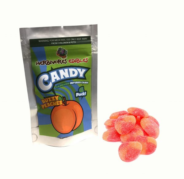 Cannabis Club BC - Buy Weed Online - Edibles - Candy - Herbivores - Buzzy Peaches 150mg THC