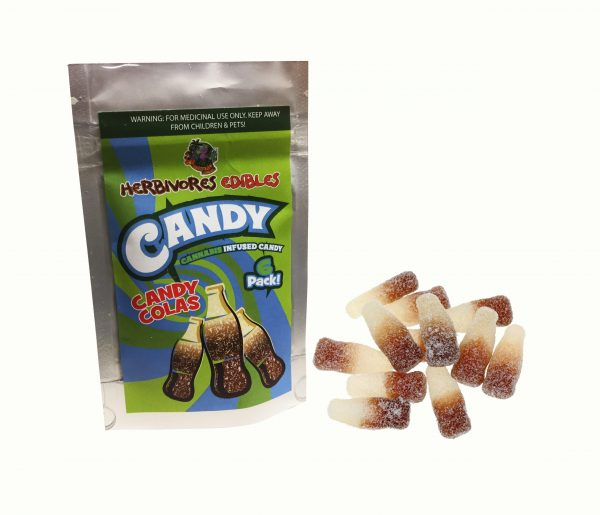Cannabis Club BC - Buy Weed Online - Edibles - Candy - Herbivores - Candy Colas 150mg THC