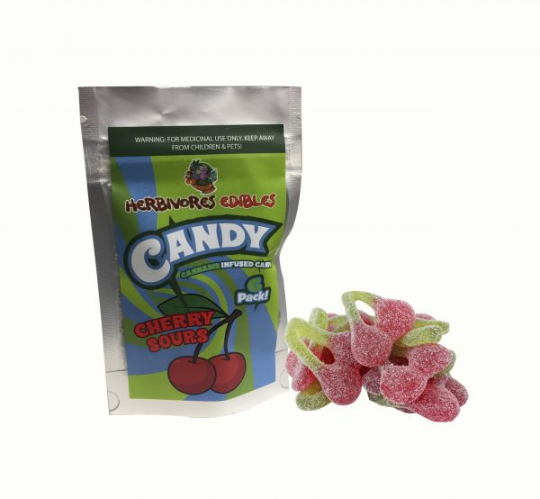 Cannabis Club BC - Buy Weed Online - Edibles - Candy - Herbivores - Cherry Sours 150mg THC