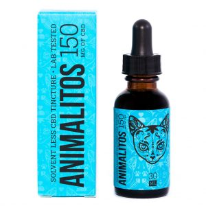 Cannabis Club BC - Buy Weed Online - CBD - Animalitos Cat Tincture - Package And Bottle - Front View