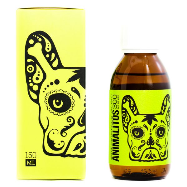 Cannabis Club BC - Buy Weed Online - CBD - Animalitos Dog Tincture - Package And Bottle - Front View