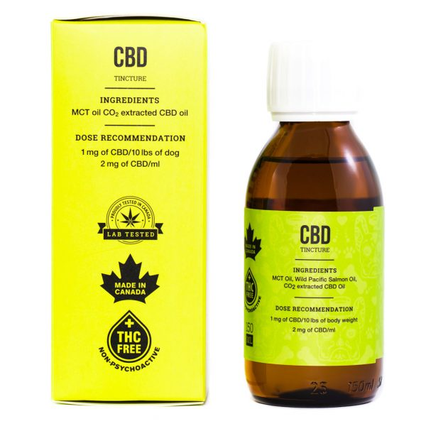 Cannabis Club BC - Buy Weed Online - CBD - Animalitos Dog Tincture - Package And Bottle - Back View