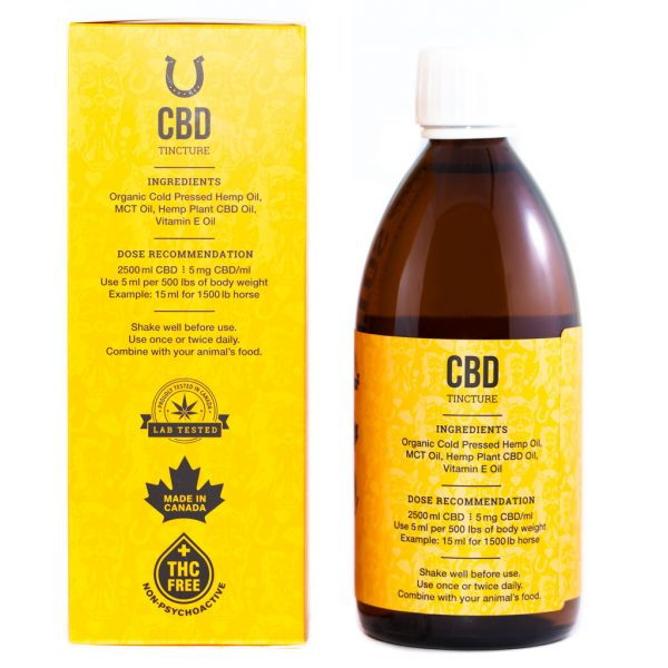 Cannabis Club BC - Buy Weed Online - CBD - Animalitos Horse Tincture - Package And Bottle - Back View